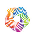 rainbow swirly abstract icon logo vector image