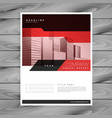 red brochure layout template for business vector image vector image