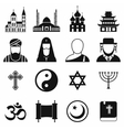 Religion simple icons set vector image vector image