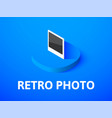 retro photo isometric icon isolated on color vector image