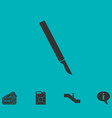 scalpel icon flat vector image vector image