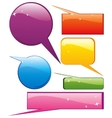 Set of glossy speech boxes vector image