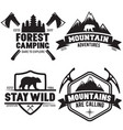 set outdoor wild life related labels badges vector image