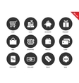 Shopping icons on white background vector image vector image