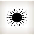 Silhouette sun with rays on a light background vector image vector image