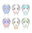 simple face masks vector image vector image