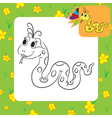 snake coloring page vector image