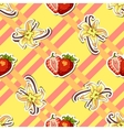 Striped Background Strawberry Vanilla vector image vector image