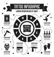 tattoo infographic simple style vector image