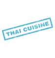 Thai Cuisine Rubber Stamp vector image vector image