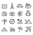 Travel symbols and Tourism signs vector image