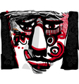 tribal face artistic drawing vector image