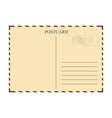 vintage postcard template vector image vector image