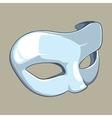 white mask vector image