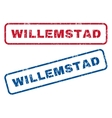 Willemstad Rubber Stamps vector image vector image