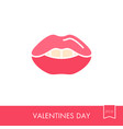 woman lips icon female mouth shape with teeth vector image