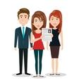 women man cv standing human resources vector image