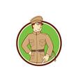 World War One British Officer Circle Cartoon vector image vector image
