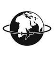 worldwide icon simple style vector image vector image