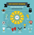 sport inventory infographic concept flat style vector image