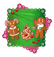 gingerbread boy and girl vector image