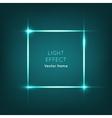 Frame Light Effect on Dark Blue Background vector image