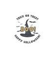 halloween badge vintage hand drawn logo design