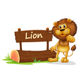 A signboard with a lion vector image vector image