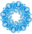 Abstract floral circle in gzhel style vector image vector image