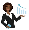 african american business woman pointing to vector image
