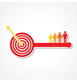 Archery board make key with people vector image vector image
