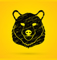big bear head graphic vector image vector image