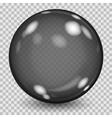 Big black transparent glass sphere vector image vector image