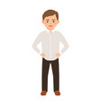 boy in a classic clothes vector image vector image