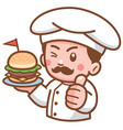 burger chef vector image vector image