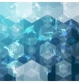 business hexagonal background Business vector image vector image
