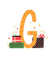 capital letter g childish english alphabet with vector image vector image