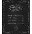 chalkboard bakery menu vector image vector image