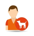 character pet training dog icon vector image vector image