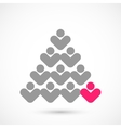 Christmas vote tree vector image vector image