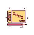computer icon design vector image