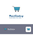 creative cart logo design flat color logo place vector image vector image
