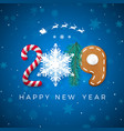 creative festive new year lettering happy new vector image vector image