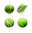 ecological leaves concept icons heart recycling vector image