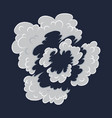 explosion cartoon bomb explode effect with smoke vector image vector image