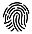 finger print icon on white background vector image