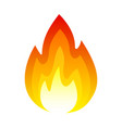fire icon bright light heat and smoke vector image vector image
