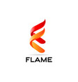 flame fire logo design symbol vector image