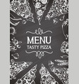 for an italian pizza menu vector image vector image