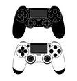 gamepad for a console game vector image vector image